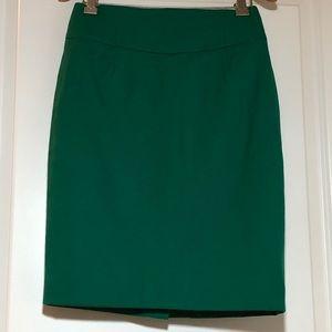 J. Crew Pencil Skirt In Green Super 120s Wool